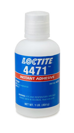 Adhesive, Instant, 1 lb Bottle, Surface Insensitive,