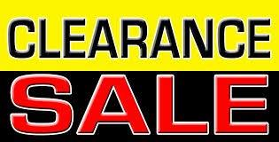 PLEASE CLICK HERE FOR A LINK TO OUR CLEARANCE LIST