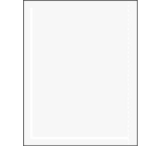 Packing List Envelope, 7.5X5.5 Clear, No Print,
