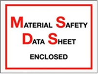 "6 1/2 x 5"" Material Safety Data Sheet Enclosed Envelope,"