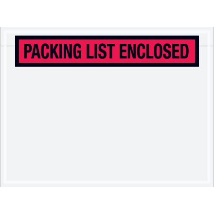"Envelope,""Packing list enclosed"", 4-1/2x6"" print"