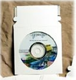 "5 x 5"" #CD2PS CD Mailer with Window White Self-Seal"