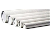 "1 1/2 x 18"" White Tube, 3-Ply Spiral Wound Construction,"